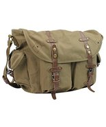 "Vagarant Traveler 17"" Large Casual Messenger Shoulder Bag C55.Green - $64.00"