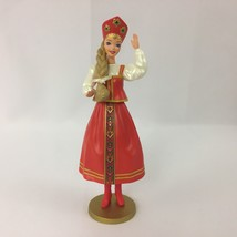 Barbie Russian Doll Ornament Hallmark Keepsake 1999 Red Dress New - $14.99