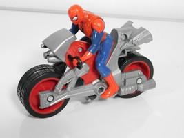 "Spider man in Motorcycle Marvel 2016 Hasbro 3"" x 4.5"" - $14.85"