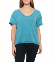 new Free People women tee shirt OB938688 5413 We The Tree baja blue sz XS - $26.49