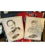 Dale Earnhardt Sr and Dale Jr. Dale Adkins Art Prints Laminated  Each one measur - $29.70