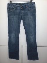 W13724 Womens Express Blue Denim Stretch Boot Cut J EAN S Cotton 4 - $13.08