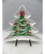 Sango - Home for Christmas, pattern 4829 - Christmas Tree shaped snack d... - $14.85
