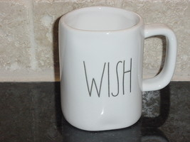 Rae Dunn WISH Mug, Ivory with Black Lettering - $11.00