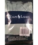 Vintage Ralph Lauren King Tailored Pillow Sham Ruffled Green Cotton NIP - $19.79