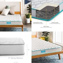 Innerspring Mattress 6-Inch Spring Support Firm Bed Medical Hospital Twi... - $92.07