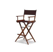 Telescope Casual World Famous Bar Height Director Chair, Brown with Waln... - $328.24