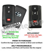 For 2004 2005 2006 2007 2008 2009 Toyota Prius Smart Prox Remote Car Key... - $98.95