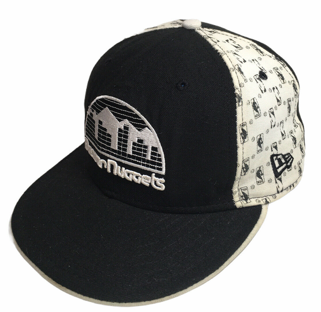 New Era Denver Nuggets Hat 5950 HWC Classic Nuggets Logo Size 7 1/4 Made In USA - $14.80
