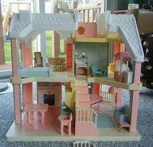 Vintage 1991 Playskool Victorian Dollhouse & Furniture / Accessories - $175.00