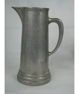 """Vintage Pewter Pitcher Plough Tavern Farmhouse 12"""" Tall No Maker Marks - £20.81 GBP"""