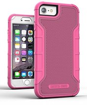 iPhone 7 Case for Girls - Cerise Pink (w/ Built in Screen Protector) Hea... - $12.99