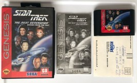 Star Trek Next Generation Echoes From The Past (Sega Genesis 1994) COMPLETE Game - $14.50