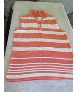 Worthington Essentials Womens Small Orange Sleeveless V-Neck Shirt - $6.99