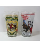 Lot of 2 Vintage Official Kentucky Derby Mint Julep Glasses - 1981 & 1988 - $8.99