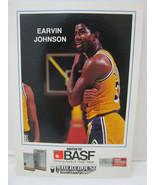 1983-84 BASF Lakers Promo Basketball card  ERVIN MAGIC JOHNSON  5x7 - $17.99