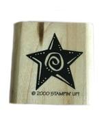 Rubber Wood Stamp Stamping Crafting Stampin Up Star 2000 - $9.89