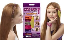 Conair Quick Twist Hair Braider Accessory Kit CD205AN, Bold and Bright - $9.49