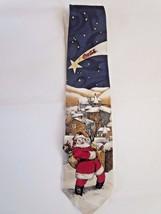 Coca Cola Collectible Santa Claus Christmas Neck Tie 100% Silk Made In U... - $6.44