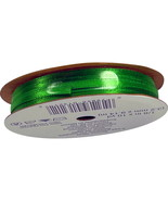 """OFFRAY Spool o Ribbon 1/8"""" x 10 Yds NEW Spool, 100% Polyester GREEN - $5.95"""