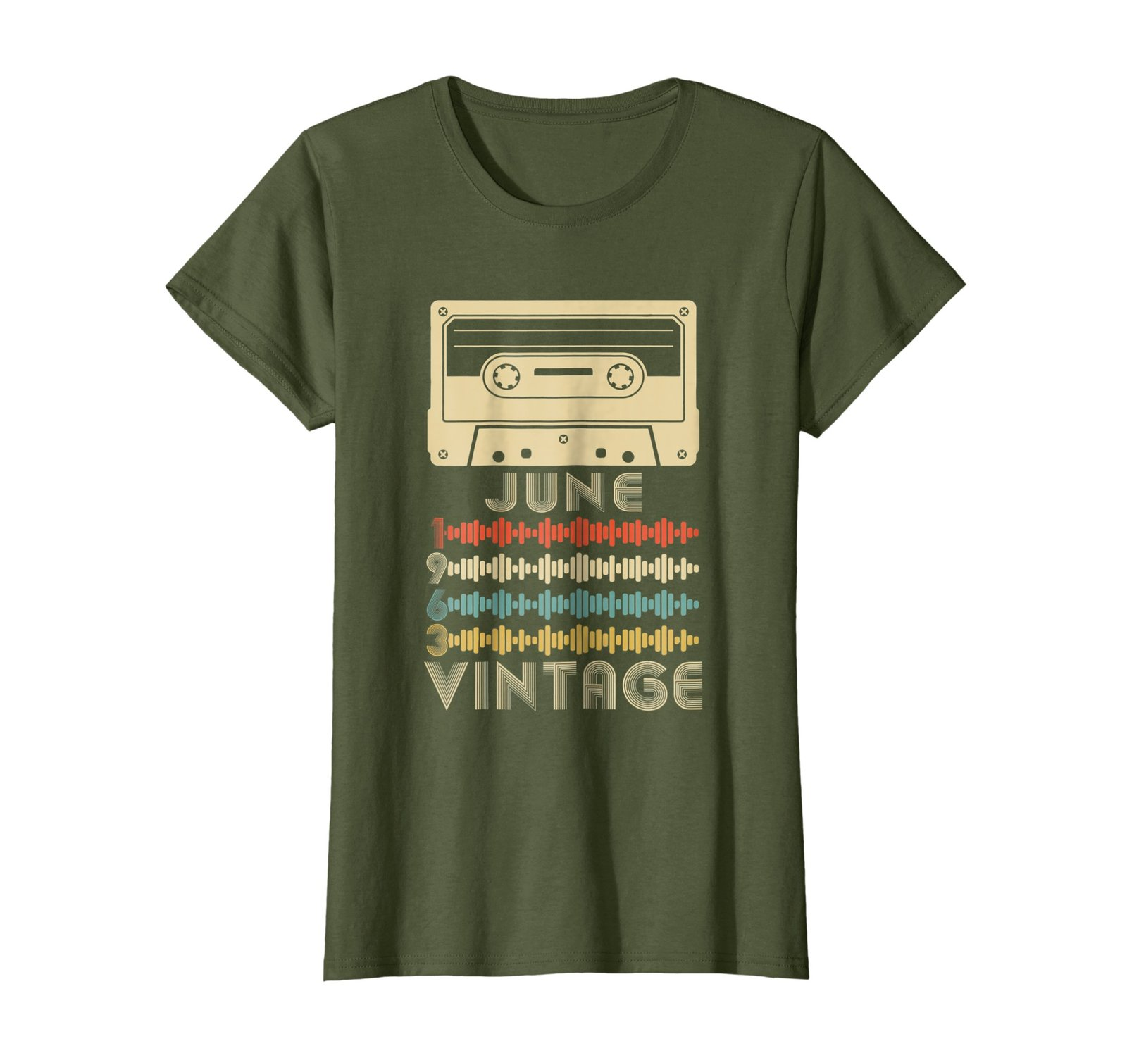 Funny Shirts - Vintage Retro Made In June 1963 55th Birthday Gift 55 years Wowen