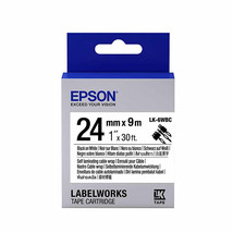 24mm Black on White - Epson LABELWORKS LK-6WBC Cable Wrap Tape Cartridge... - $109.99
