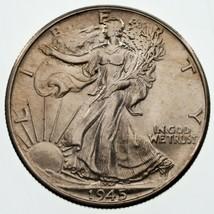 1945 50C Marche Liberty Demi Dollar, Choix Bu État, Beau Oeil Appeal - $49.29