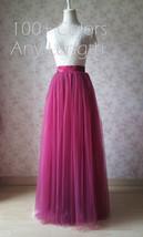 Full Tulle Maxi Skirt Plus Size Floor Long Tulle Skirt Wedding Guest Maxi Skirts image 3