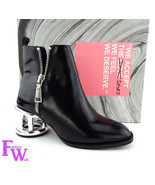 New JEFFREY CAMPBELL Size 6 BOONE Black Ankle Boots w/ Cage Heels - $144.00
