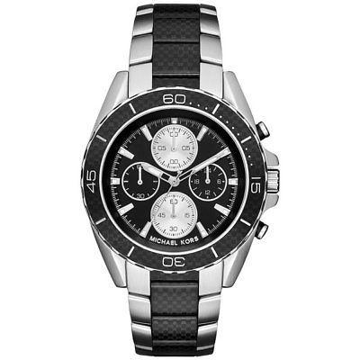 Michael Kors Men's Chronograph JetMaster Carbon Fiber Steel Watch 43mm MK8454