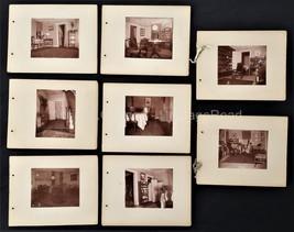 antique PHOTOGRAPH ALBUM greene ny RECTORY rooms furnishings 8 albumen p... - $87.95