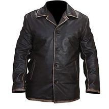 Jensen Ackles Supernatural Dean Winchester Distressed Brown Leather Jacket Coat image 1