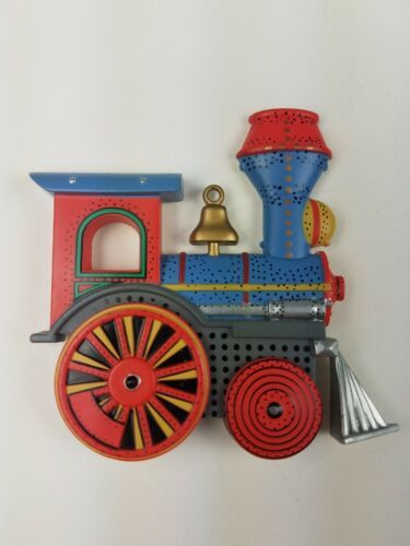 Primary image for Hallmark Christmas MAGNET Keepsake Ornament Inspired Train Engine Blue Red Gray