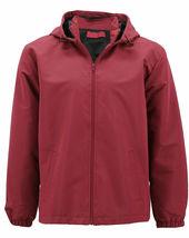 Red Label Men's Lightweight Nylon Hooded Water Resistant Zip Up Rain Jacket image 5