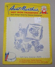 3649 Early American Motifs Aunt Marthas Hot Iron Transfers Patterns Embr... - $3.91