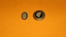 2 Vintage Cameos. Pins. Very nice pins Plastic . no damage - $9.89