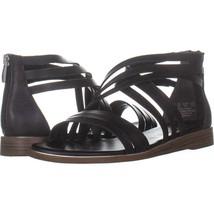 Franco Sarto Gaetana Flat Gladiator Sandals 171, Black, 8 US - £21.88 GBP