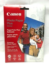 Canon Photo Paper Plus Glossy 5 x 7 #PP101 Premium Quality 20 Sheets NEW Sealed  - $7.00