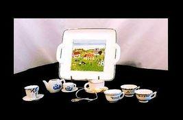 Tea Cups & Saucers AB 299 Miniature Vintage image 3
