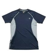 Champion Power Flex Compression Shirt Size Medium Fitted Short Sleeve Gr... - $17.83
