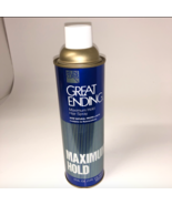 Helene Curtis Great Ending Discontinued Hairspray Maximum Hold Vintage 9... - $49.99