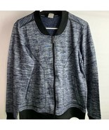 Rbx Women's Blue Gray Long Sleeve Zip Up Athletic Jacket Size Large L Ac... - $29.70