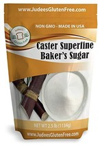 Judee's Superfine Caster Baker's Sugar 2.5 lbs Non-GMO ~ Made in USA ~ Packaged