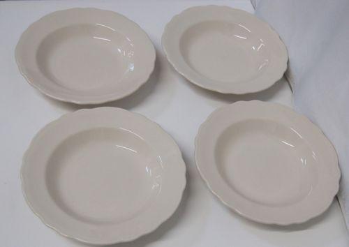 Homer Laughlin China Carolyn Pattern Large Rim Soup Bowl Set of 4