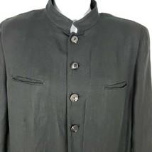 Ralph Lauren Black Label Linen Jacket Blazer 14 Mandarin Collar Made USA - $89.05