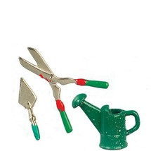 Dollhouse Gardening Tools Watering Can Clippers Trowel Miniature  - $3.48