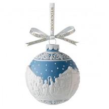 Wedgwood Blue Jasperware  Christmas Carol Singers Ball Ornament 09157420... - $29.58