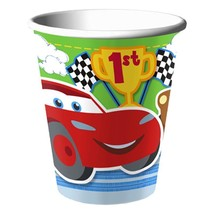 Cars 1st Birthday 9 oz Paper Cups 8 Per Package Birthday Party Supplies New - $2.23