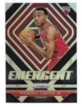 2018-19 Panini Prizm Emergent Wendell Carter Jr Silver Prizm Insert Card #7 - $1.24