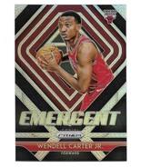 2018-19 Panini Prizm Emergent Wendell Carter Jr Silver Prizm Insert Card #7 - $1.24